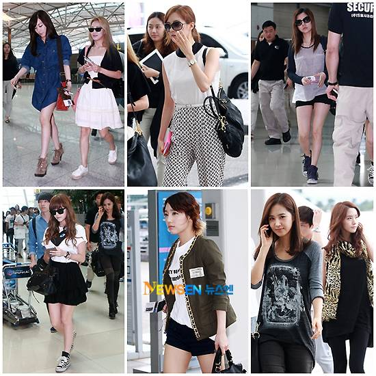 Snsd S Airport Fashion Captured As They Head To Taiwan 24 Hoours
